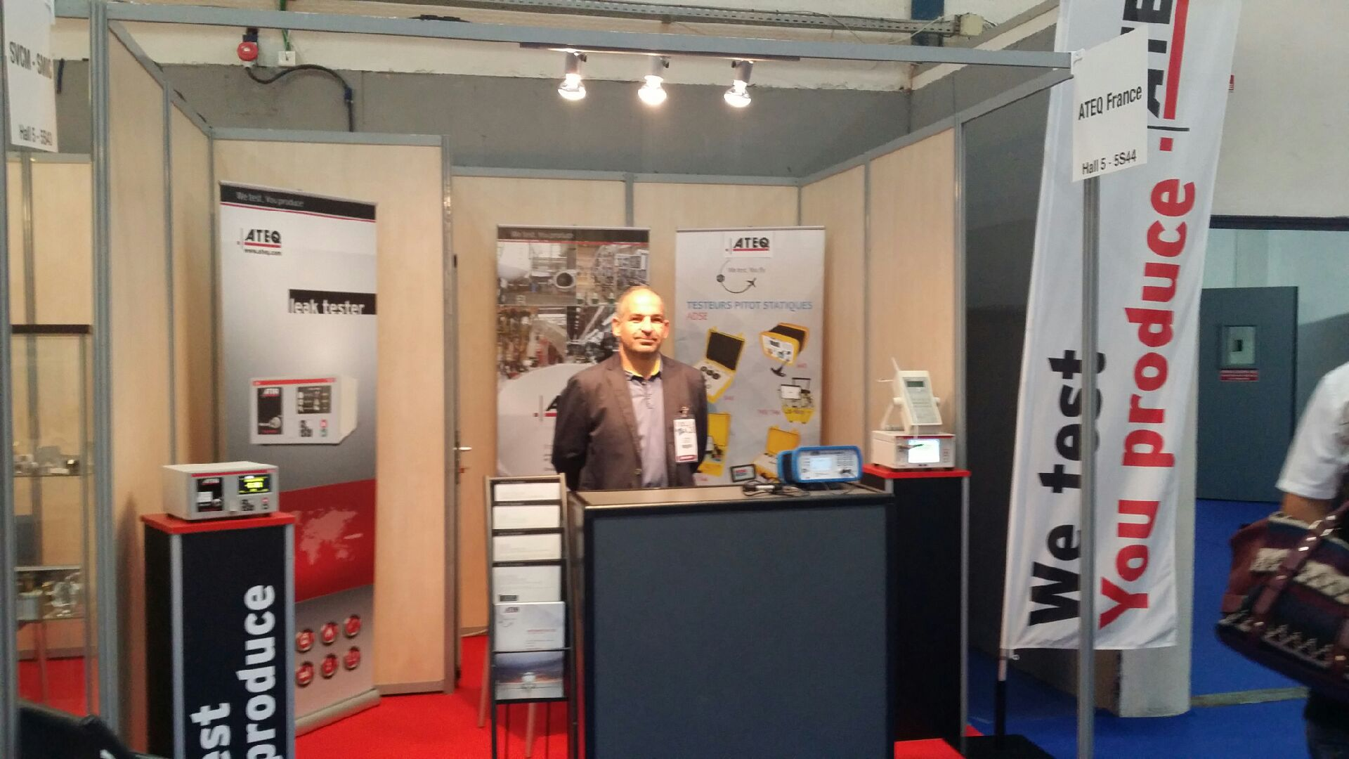 Ateq france is participating in a regional trade show in for Salon siane