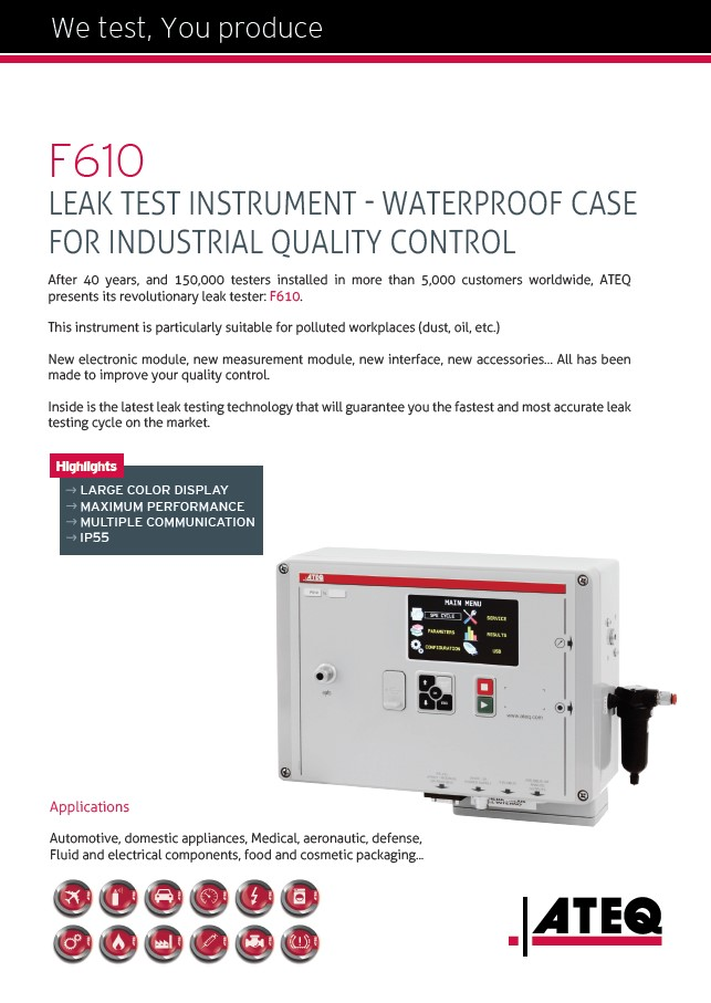 LEAK TEST INSTRUMENT - WATERPROOF CASE