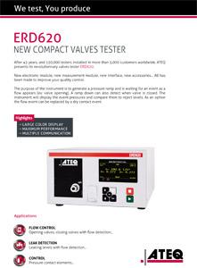 ERD620 Valves tester - leaktesting ateq