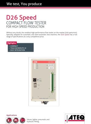 D26 speed ATEQ