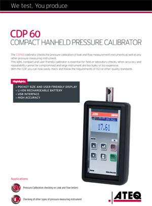 CDP60 calibrator Leaktesting