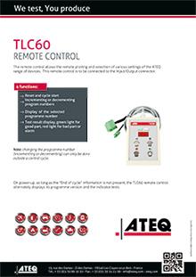 TLC 60 remote control ATEQ